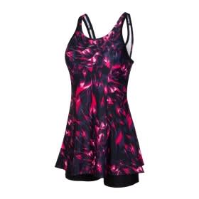 3f81571208 Allover Swimdress Black - Jewel Pink - Ecstatic - Pink Splash - White